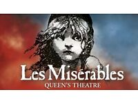 LES MISERABLES TICKETS (x2) - JUNE 7th at 7.30pm - Very good tickets - DRESS CIRCLE (E5, E6)