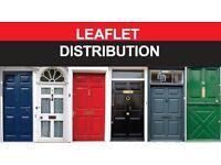 WE PROVIDE LEAFLET DISTRIBUTION SERVICE.