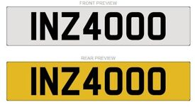 INZ4000 Cherished Number plate for sale
