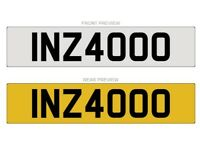 INZ 4000 - Cherished Number plate for sale