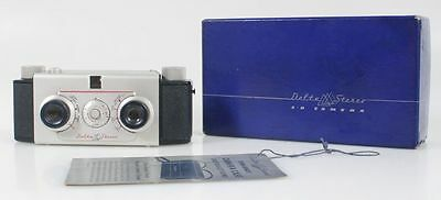 DELTA BAKALITE STEREO CAMERA 1950S ORIGINAL BOX