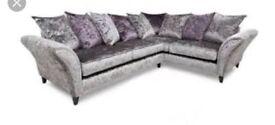 DFS Crushed velvet sofa