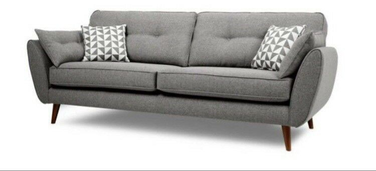 French Connection Zinc 4 Seater Sofa In Duddingston