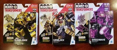 2015 Hasbro Transformers Kre-O Kreon Battle Changer BUMBLEBEE GRIMLOCK SHOCKWAVE