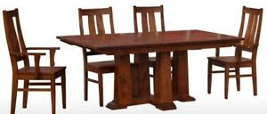Mennonites Handcrafted Solid Canadian Wood Dining Table Set - FREE SHIPPING to GTA