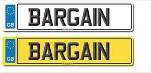 Car Number Plate Show plate With Your Reg Free P+P Build And Design Here