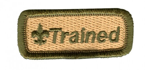 BOY SCOUT SCOUTING OFFICIAL BSA GREEN TRAINED STRIP PATCH EMBEM BRAND NEW
