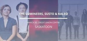 Lumineers March 30 - Face Value - 3 Tickets on the Floor (Row 8)