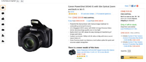 FOR SALE: NEW CANON POWERSHOT CAMERA