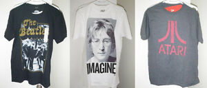 "The Beatles, John Lennon ""Imagine"", & Atari t-shirts"