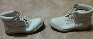 White Timberland Boots - Size 12 Mens