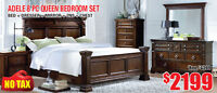 Adele 8pc Queen Solid Wood Bedroom Set, $2199 Tax Included