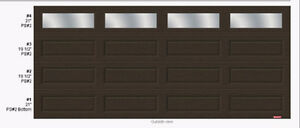 Garaga Insulated R12 moka brown door - Price Reduced