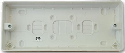 3 GANG SURFACE BOX - 30MM DEEP Electrical Back Boxes/Mounting Boxes