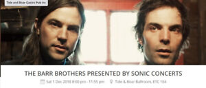Barr Brothers - 2 Tickets for Moncton - Dec.1st  Show