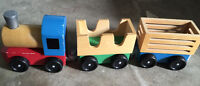 Wooden train and carts- $10 in Vernon