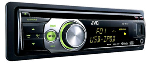 JVC car stereo CD player deck USB, AUX, like NEW