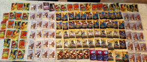 Assorted lot Marvel Cards empty sleeves foil wraps
