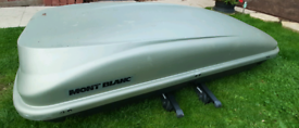 Roof Box Mont Blanc roof 450 Vista With Roof Bars