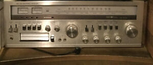 AM /FM-FM STEREO RECEIVER CASETTE SEARS 3 SPEAKER POLK AUDIO