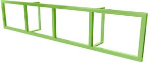 Ikea Lerberg wall shelf green
