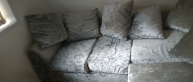 Crushed velvet sofa free local delivery