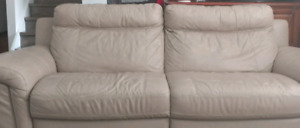 Genuine leather electric reclining couch