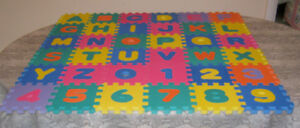 Foam Alphabet and Numbers Waffle Blocks Puzzle