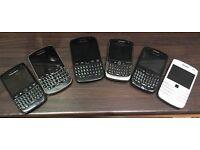6 x blackberry mobile phones