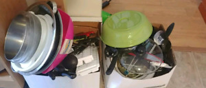 Two boxes of kitchen items!