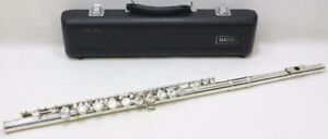 Yamaha YFL-221 Flute Silver-Plated Good Condition w/ Case