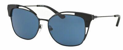 TORY BURCH Cat Eye TY 6049 307680 Matte Black Blue Sunglasses (Tory Burch Metal Cat Eye Sunglasses)