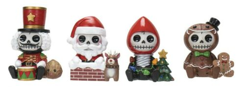 NEW Furrybones Limited Edition Christmas Skeleton Set of 4 Figurines Xmas Gift