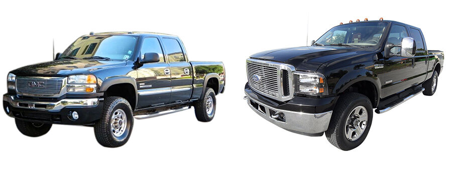 comparison of gmc 2500 vs ford f250 ebay. Black Bedroom Furniture Sets. Home Design Ideas