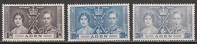 Aden - 1937 Coronation Sc# 13/15 - MLH (7734)