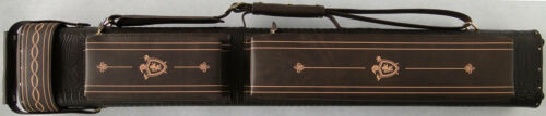 3x5 Pool Cue Case - Brown with Camel Stitching FREE Shipping