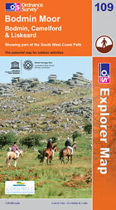 Bodmin Moor Explorer Map 109 - OS - Ordnance Survey