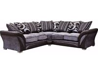 Brand New Black And Grey Large Corner Sofa. This Is The Bigger Version From The One On Ebay. 245cm