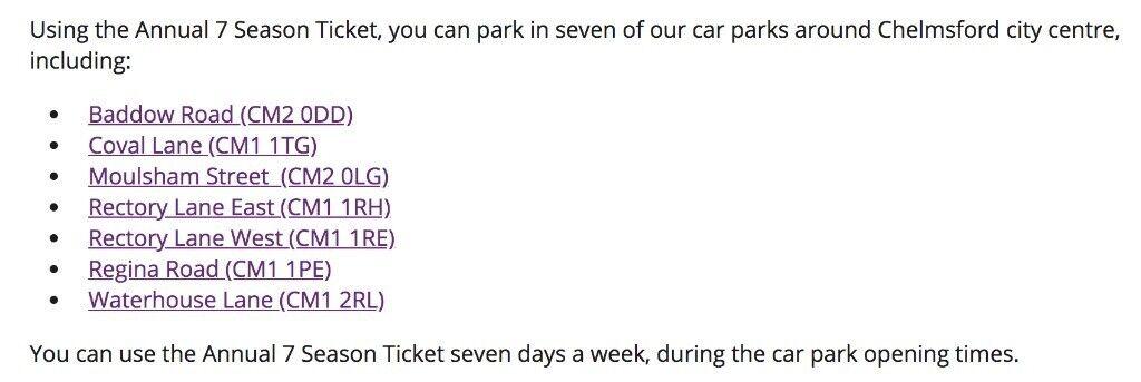 Chelmsford Station Parking Permit -> 4 mins walk to Station