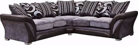 NEW STOCK OFFER // CHENILLE FABRIC AND PU LEATHER SOFA CORNER AND 3+2 SEATER AVAILABLE
