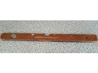 Solid wood spirit level - full size