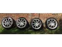 Alloy bbs 19 inch wheels with Dunlop SP Sports Tyres from Jaguar XJ8 fits overs