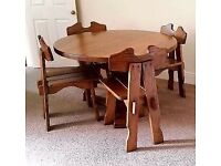 Solid wood table with 4 chairs,(matching sideboard and tv unit available) lovely furniture L@@k