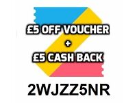 Free £5 ff voucher on all high street vouchers + save money on future purchases. Tesco, Argos, Next