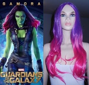 NEW W/ TAGS Guardians of the Galaxy GAMORA Deluxe Wig (312-0886)