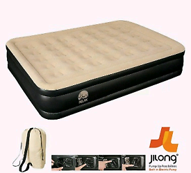 Brand new high rise double airbed with built in pump