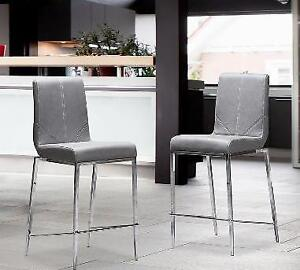 Jessep grey counter stools, just arrived,very sturdy welded base
