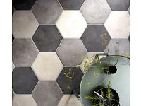 Grey Floor Tiles - Mandarin Stone