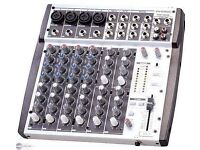Phonic MM-1202 8-Input Professional Compact Live Band/PA/Studio Mixer with PSU