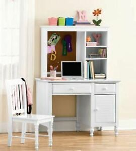 white desk with hutch and chair wood free shipping perfect for kids